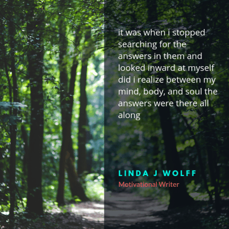 Answers. Poem by Linda J Wolff