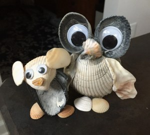 sea shell koala and owl