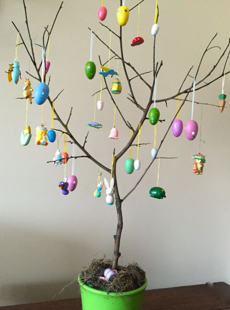 traditions - easter egg tree