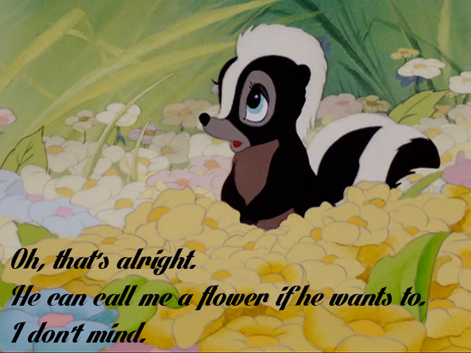 Skunk named Flower-quote