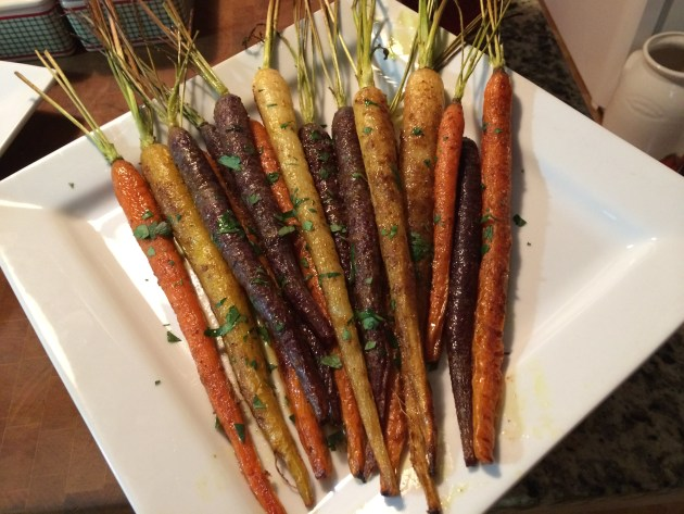 Roasted Organic Baby Carrots With Curry And Ginger