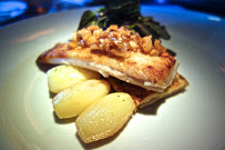 Local Petrale Sole, Celery Root and Fennel Gratin, Red Finrgerling Potatoes, Hazelnut brown butter and lemon, peppercress