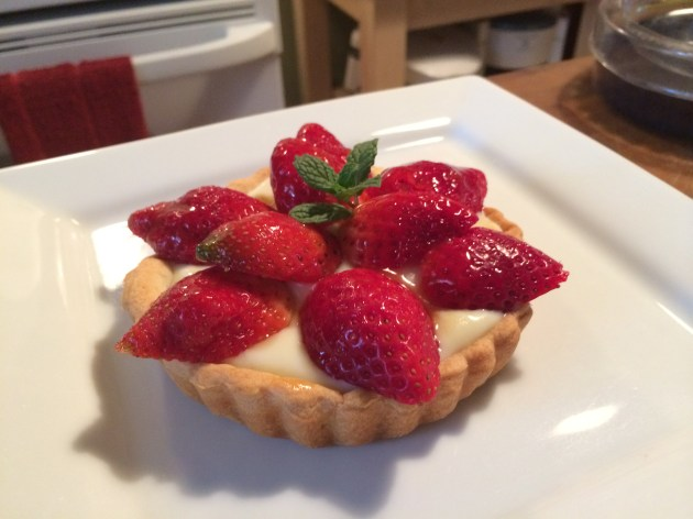 Strawberry Tart With French Pastry Cream