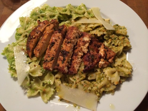 Spicy Grilled Chicken Over Pesto Bow Tie Pasta.jpg