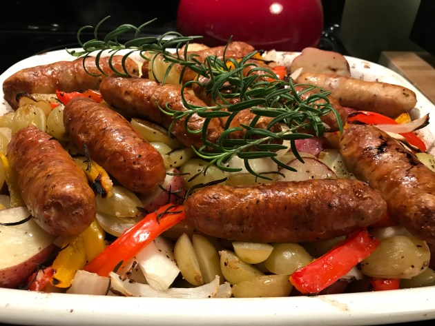 Tuscan Style Roasted Sausage And Grapes (19)