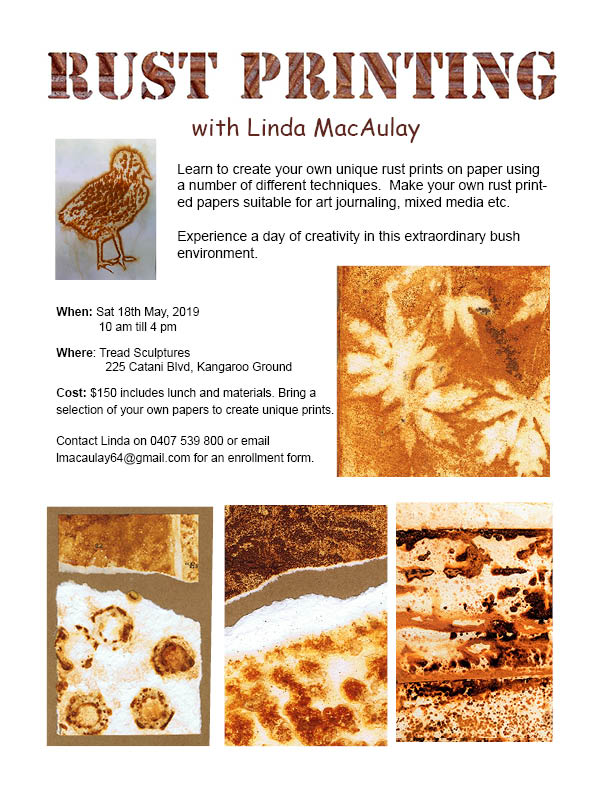 Printing with rust with Linda MacAulay at Tread Sculptures