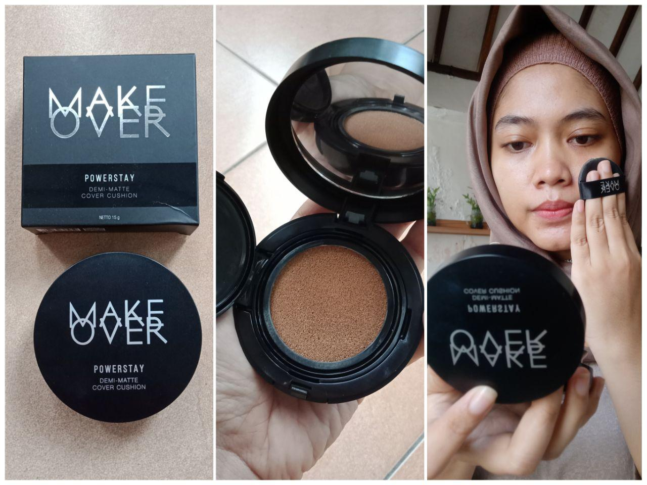 Review Wear Test Make Over Powerstay Demi Matte Cover Cushion
