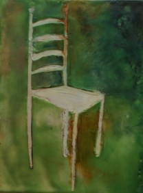Encaustic Cavo Rilievo Chair-Linda Lenart McNulty