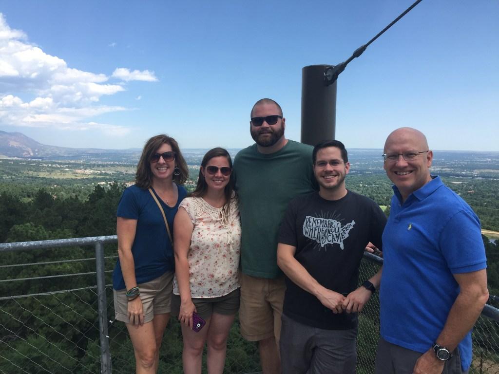 Brett and his family