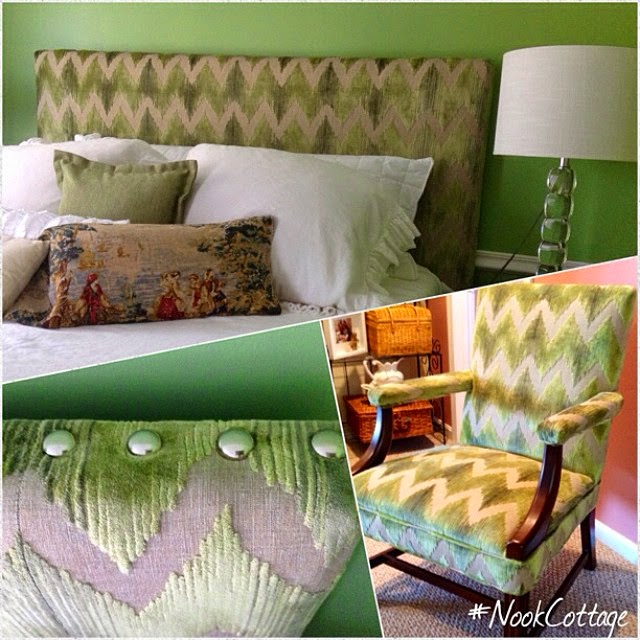 Green bedroom hanging art