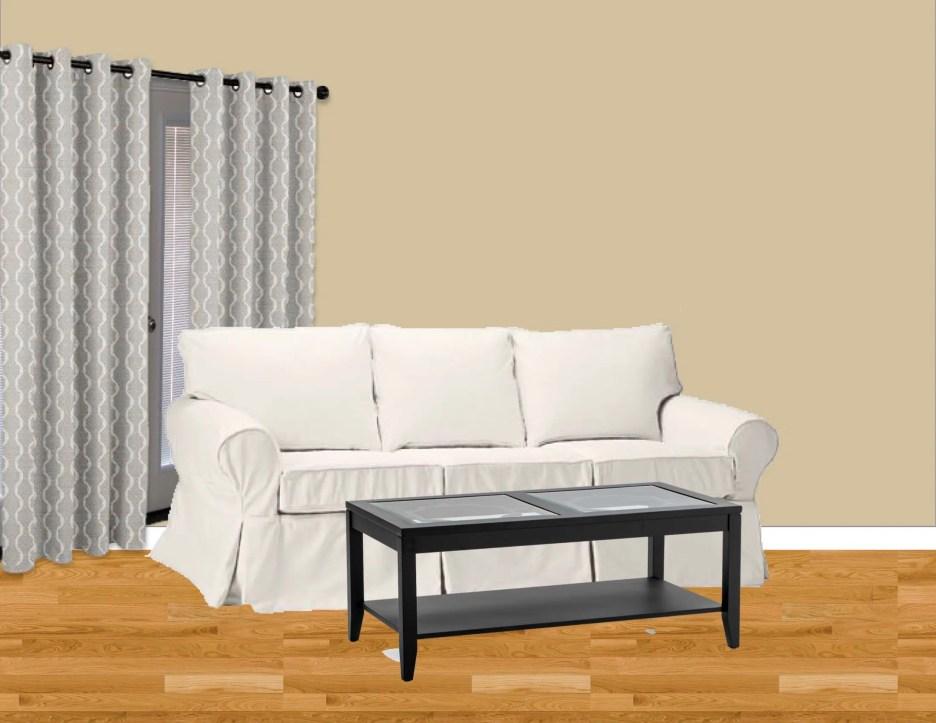 white sofa vignette