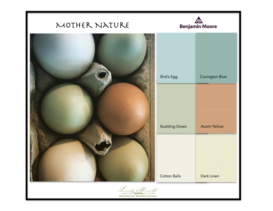 Paint Colors based on egg colors - Benjamin Moore