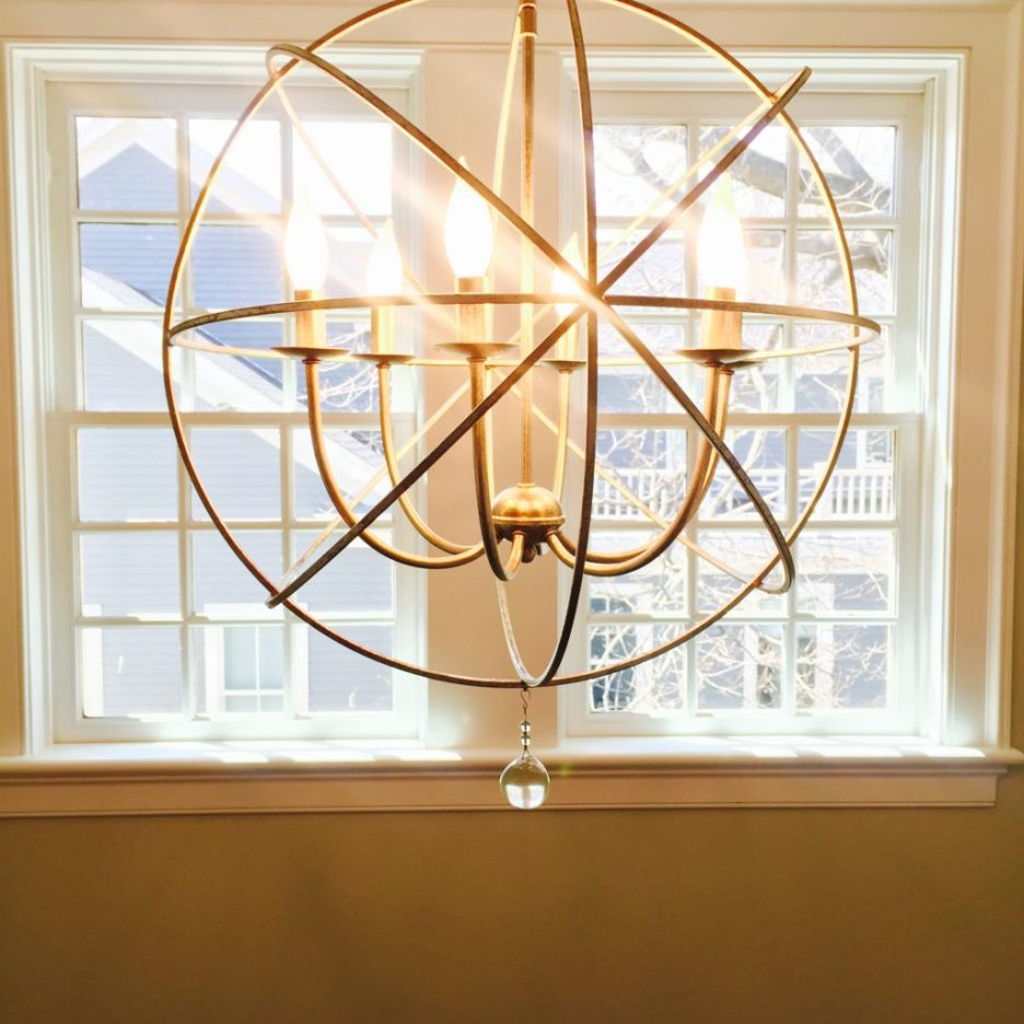 Orb light fixture Hingham Church Conversion