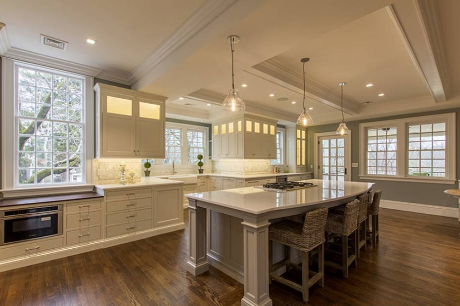 White kitchen Hingham Church Conversion