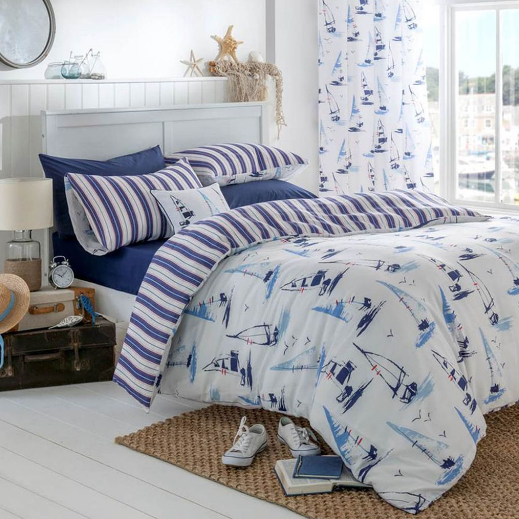Nautical Bedding King: Interior Design: Theme And Variations