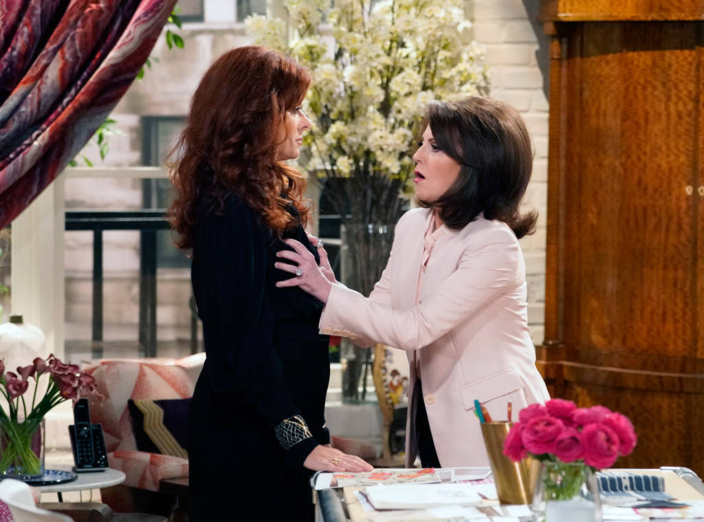 Grace Adler Karen Walker interior design office scene from Will & Grace