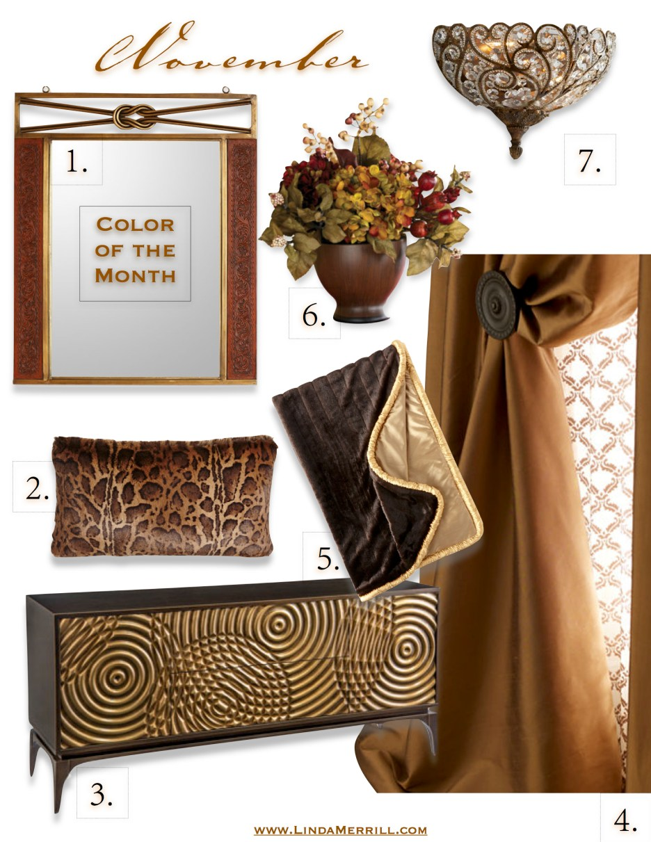 November Color of the Month Brown and bronze