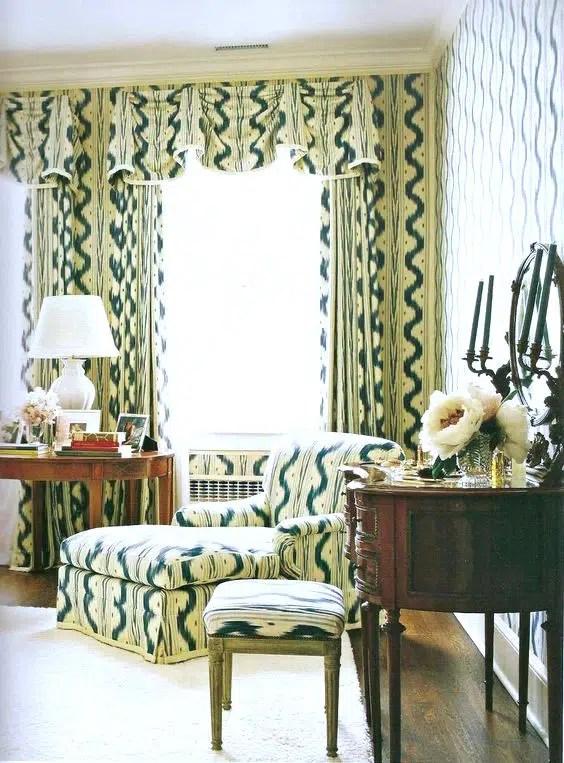 Pattern match Mark Hampton design for Estee Lauder Pierre Frey Toile de Nantes