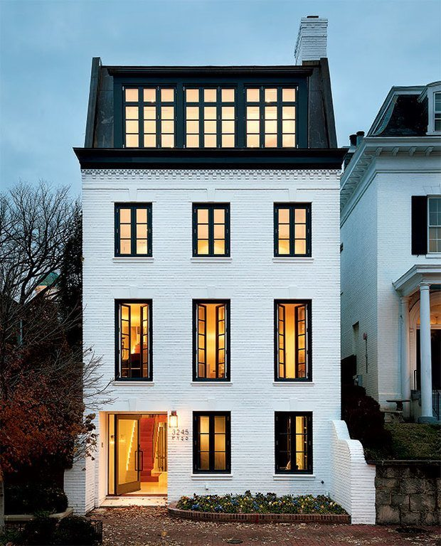 Color of the Month Black and White Douglas Rixey architect Georgetown Paul Burk photo White house black trim