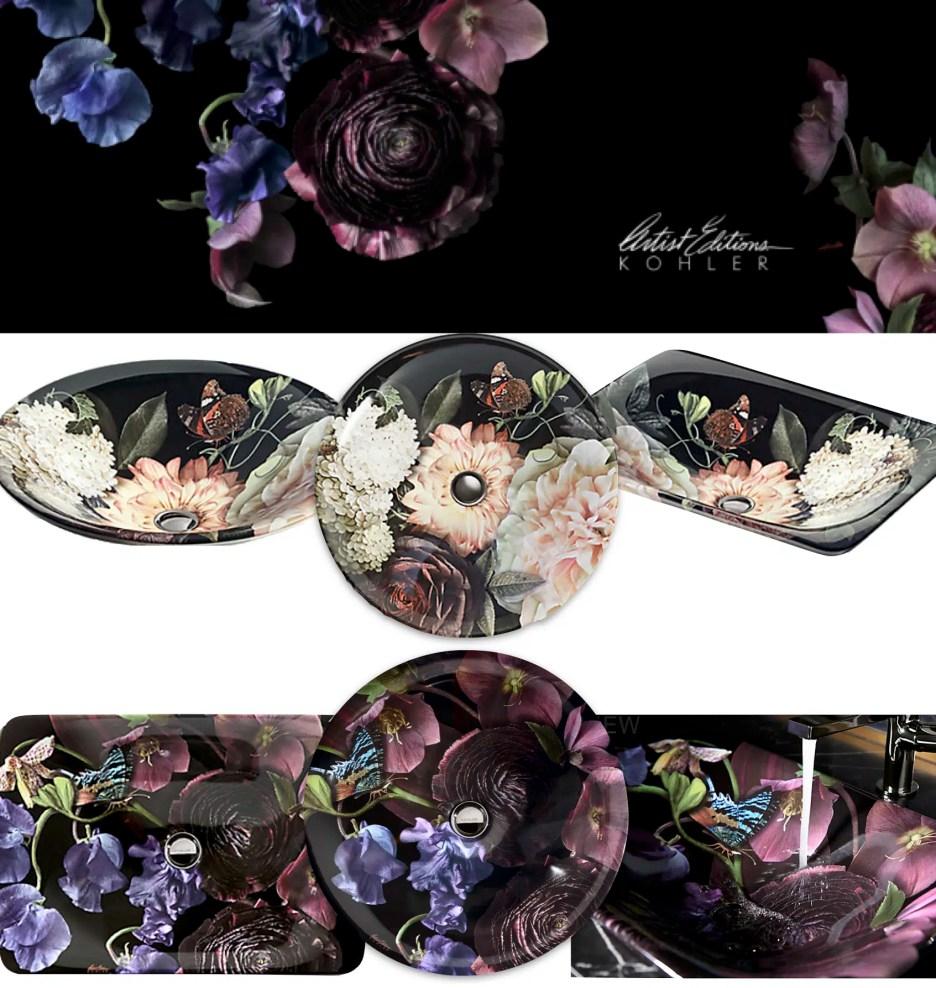 Kohler Dutch master floral sink