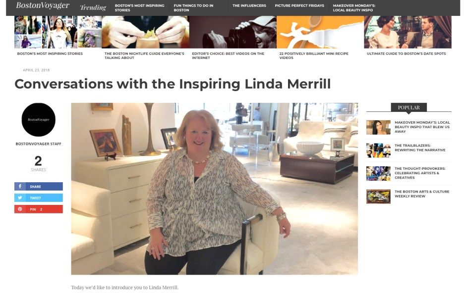 Boston Voyager magazine Linda Merrill interview