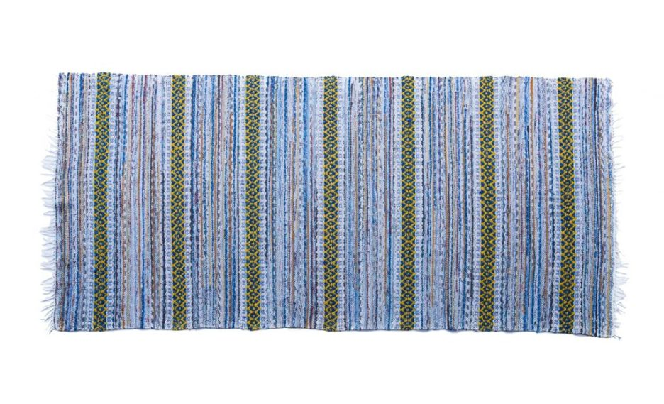Truro Rug The Coastal Collection blue and yellow handwoven rug runner rug