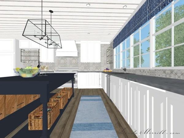 Linda Merrill Coastal Collection blue white kitchen Hampton rug 2