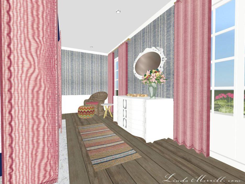 Linda Merrill The Coastal Collection Nantucket Pink Blue Bedroom 2