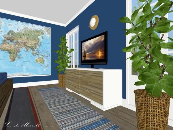 Linda Merrill Coastal Collection Newburyport rug blue bedroom 1
