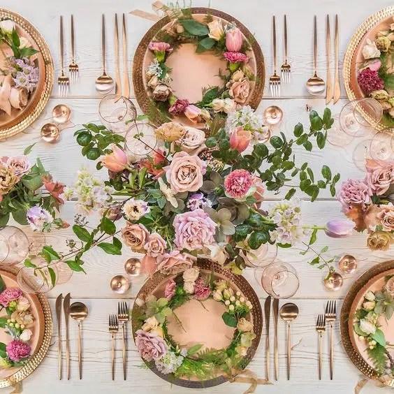 Casa de Perrin flowers by megan gray wedding reception tablescape