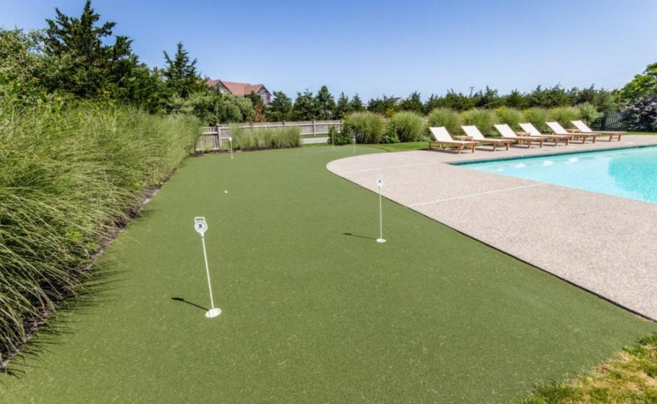 Exterior putting green 3 Dunes Road Edgartown, MA Sandpiper Realty Edgartown property