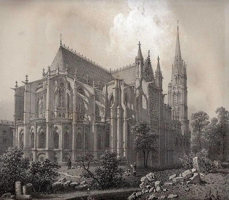 Gothic Felix Benoist Cathedral St Denis Met Gala