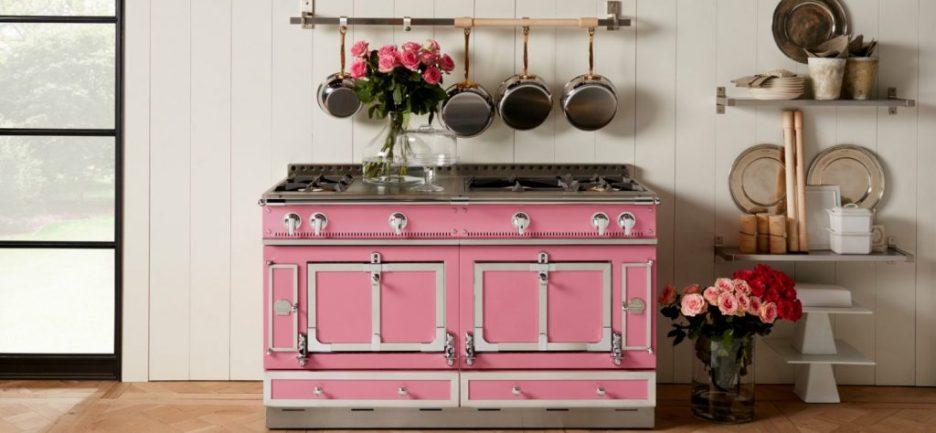 Suzanne Kasler for LaCornue pink stove