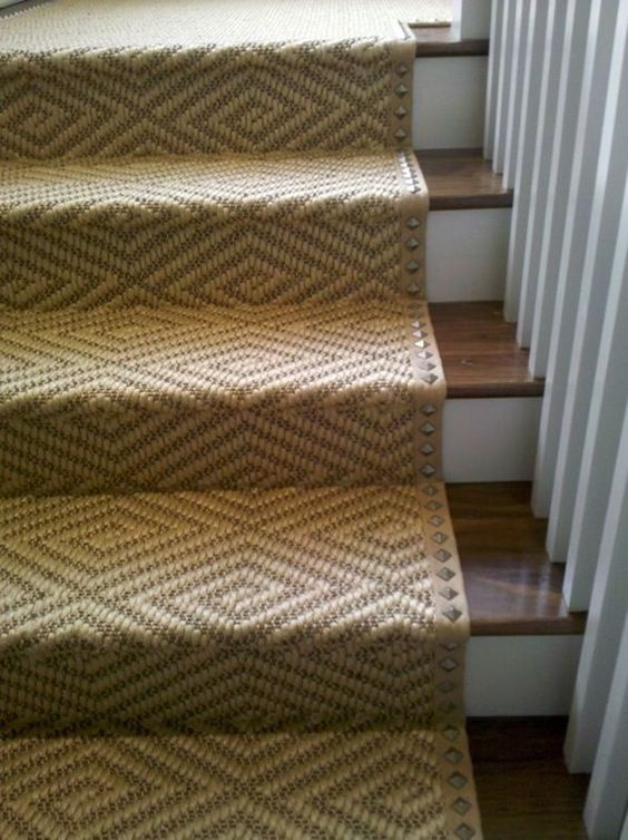 Diamond Sisal on Stairs