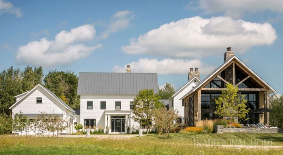 Vermont Farmhouse Fantasy Lee Grutchfield Architect Traditional Home exterior