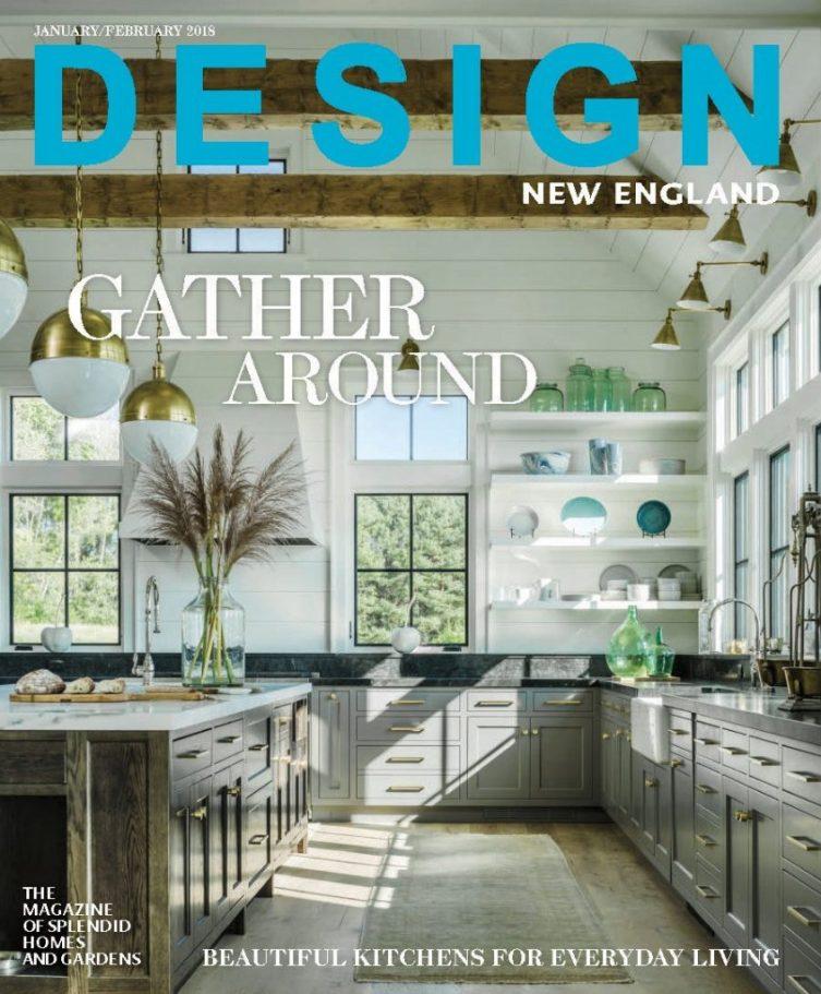 Design New England Vermont Farmhouse Jim Westphalen photograph Farmhouse fantasy Cover Jan Feb 2018