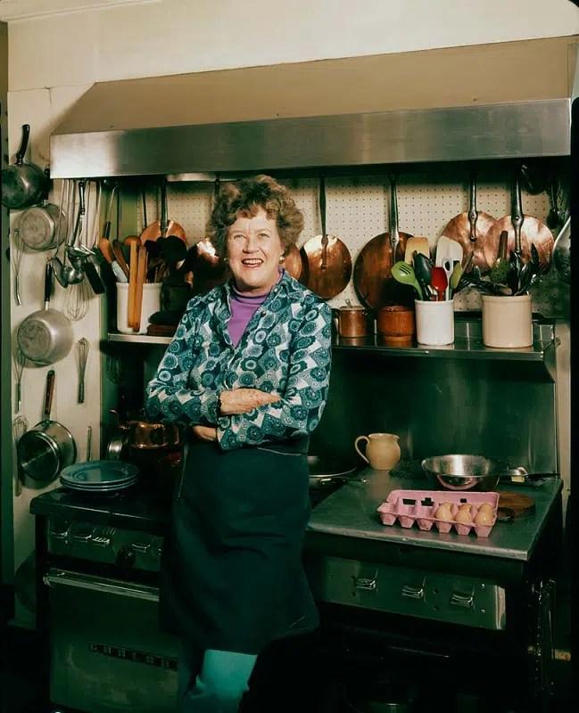 Julia Child in her kitchen body type