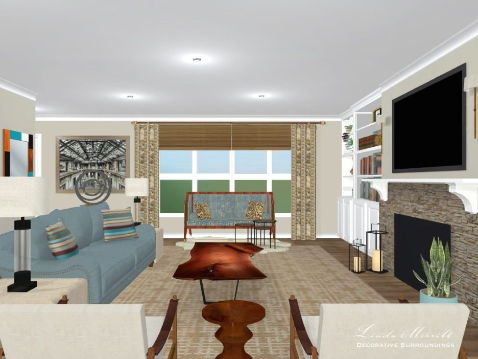 Linda Merrill Design Washington open floor plan project 2
