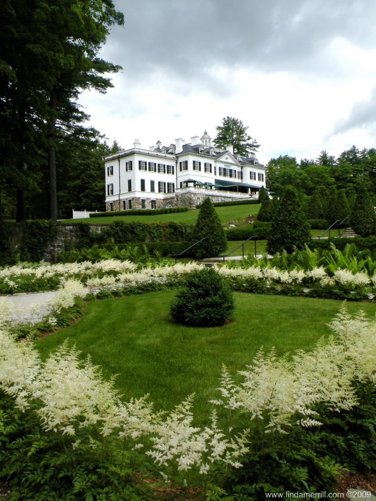 Linda Merrill photography Edith Wharton The Mount Massachusetts Secret Garden view to house