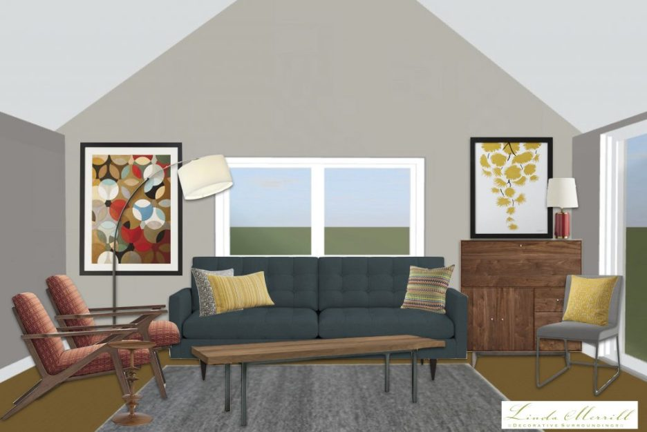 Linda Merrill window treatment height how high drapery panels vaulted ceiling