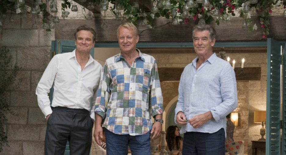 Mamma Mia Here We Go Again Colin Firth Stellan Skarsgard Pierce Brosnam