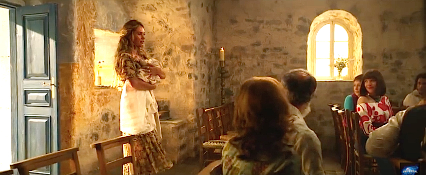Mamma Mia Here We Go Again Lily James Church Baptism