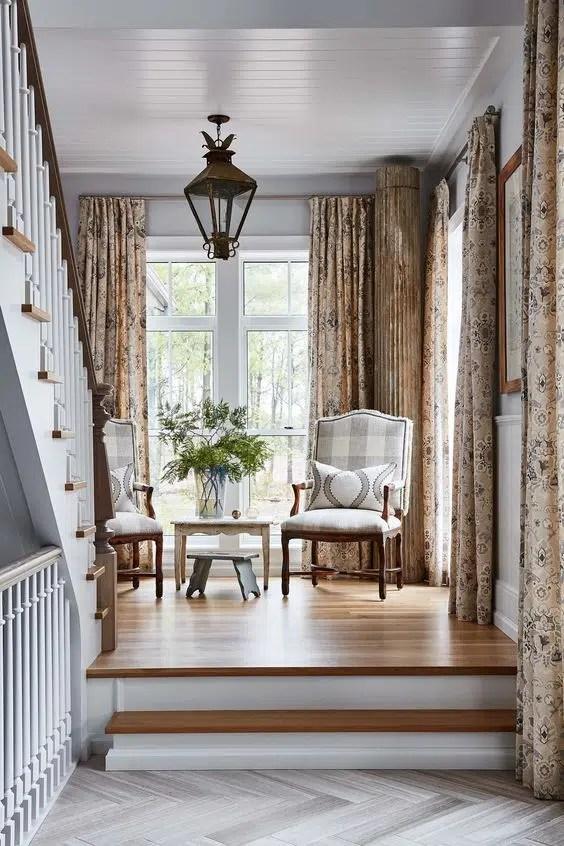 Sarah Richardson design how high drapery panels