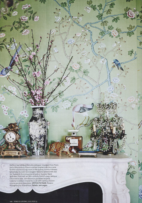 Kate Challis Interiors Vogue 18 DeGournay Sharp Objects
