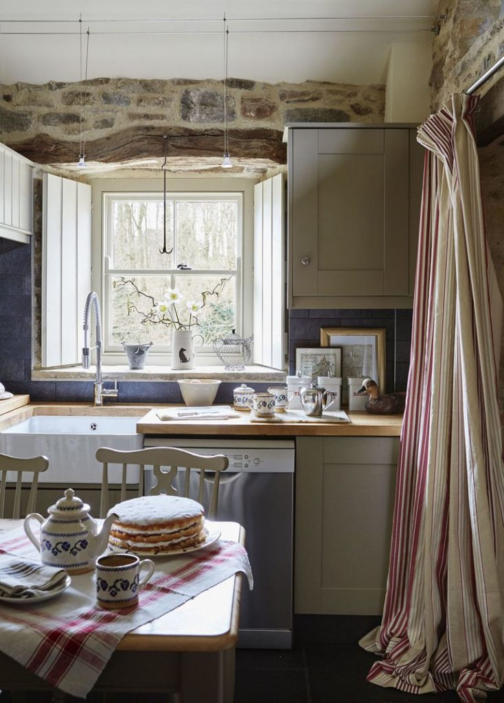 Tudor stone cottage bastle photography Brent Darby kitchen charming stone cottage