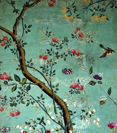 V&A Chinese Wallpaper with flowering shrubs print Sharp Objects