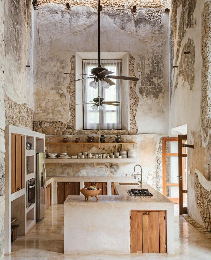 Muñoz Arquitectos photo by Rubin Ortiz AD Germany Yukatan Rustic Kitchen