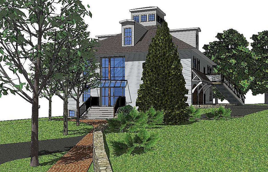 Newburyport Modern carriage house conversion Andrew Sidford Architect rendering