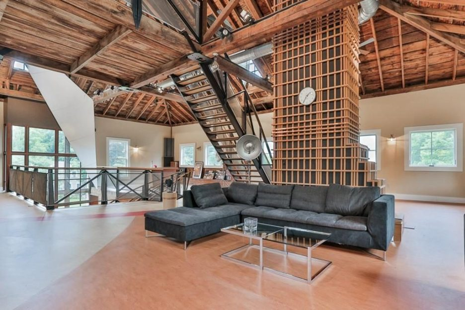 Newburyport modern carriage house conversion Andrew Sidford Architect interior 2