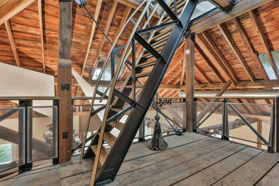 Newburyport modern carriage house conversion Andrew Sidford Architect interior 7